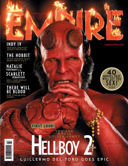 Hellboy 2 on the Cover of Empire Magazine