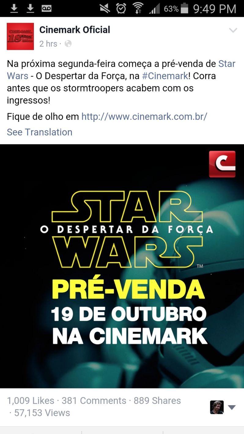 Star Wars Force Awakens ticket presale
