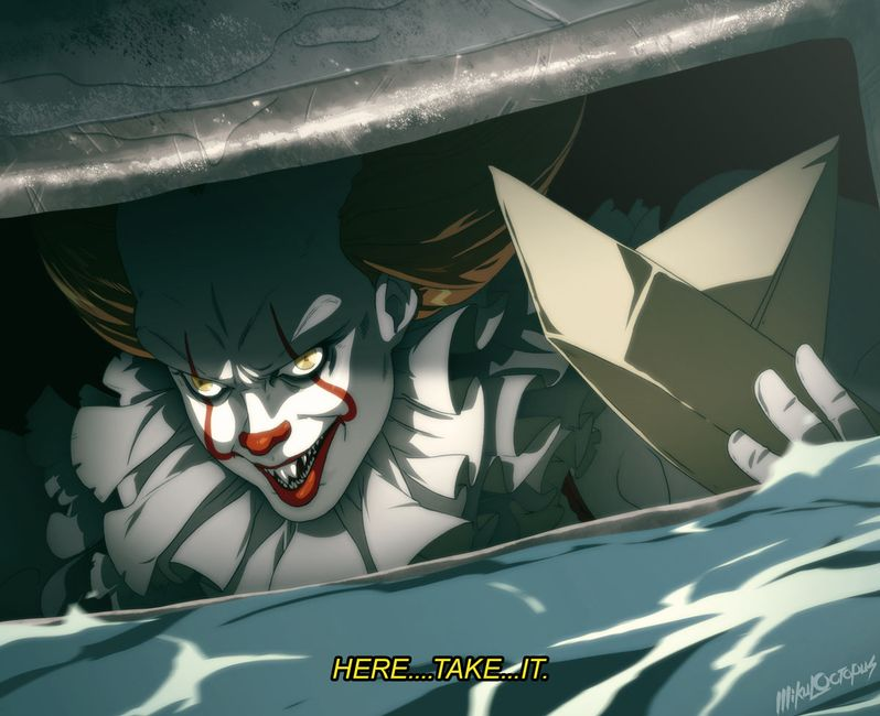Pennywise <strong><em>IT</em></strong> anime 2