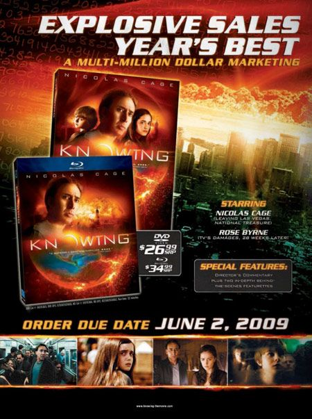 Knowing Blu-ray DVD