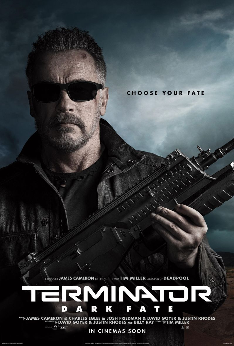 Terminator Dark Fate Character Poster Arnold Schwarzenegger