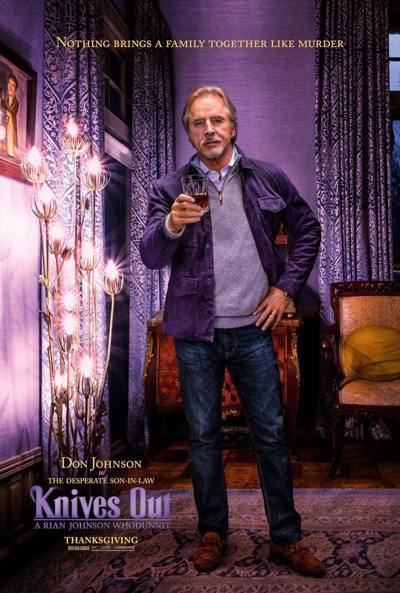 <strong><em>Knives Out</em></strong> Don Johnson Poster