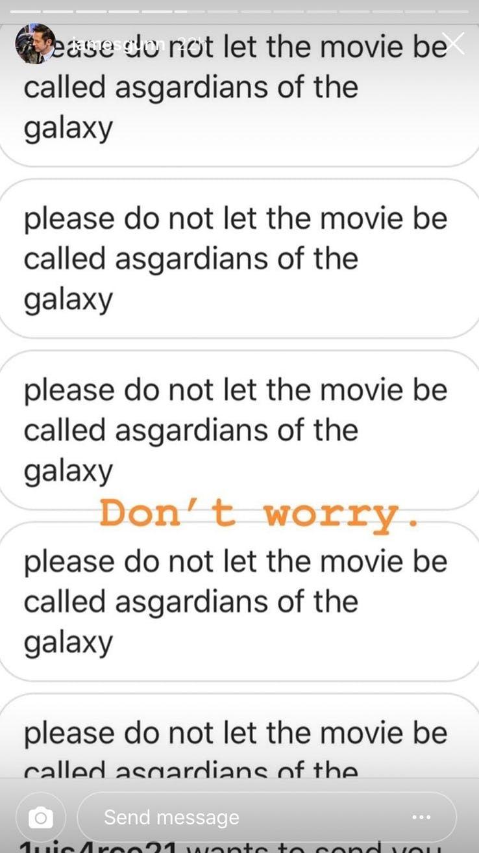 James Gunn Instagram Story Asgardians of the Galaxy