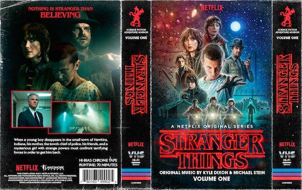 <strong><em>Stranger Things</em></strong> soundtrack cassette tape cover