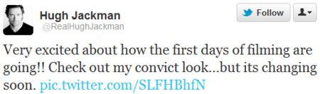 Hugh Jackman Twitter message