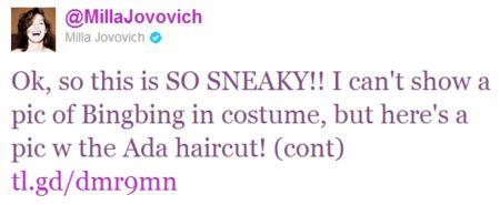 Milla Jovovich Tweet #1