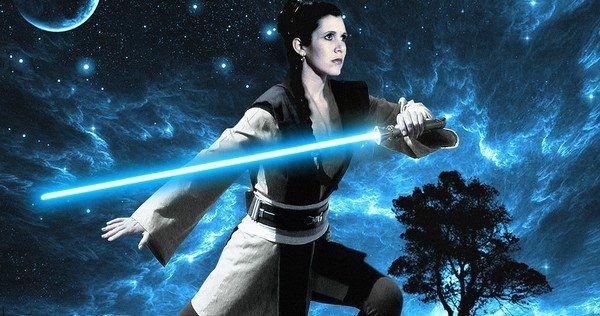 Leia uses the Force