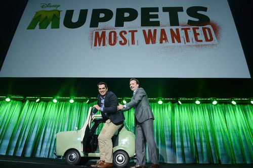 Ty Burell shows up to promote <strong><em>Muppets Most Wanted</em></strong>