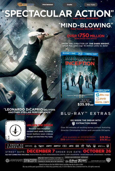 <strong><em>Inception</em></strong> Blu-ray Artwork