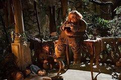 Stephen Hunter plays the Dwarf Bombur
