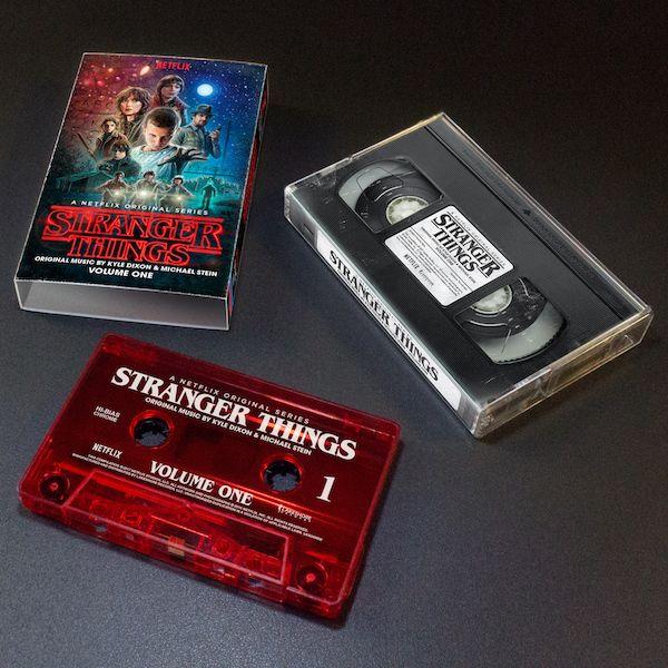 <strong><em>Stranger Things</em></strong> soundtrack cassette tape