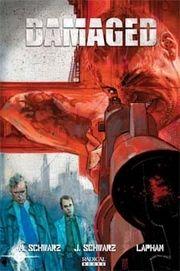 Damaged comic book cover art