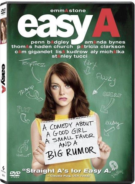 <strong><em>Easy A</em></strong> DVD artwork