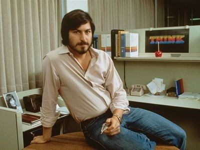 Steve <strong><em>Jobs</em></strong> himself in the early years of Apple Computer
