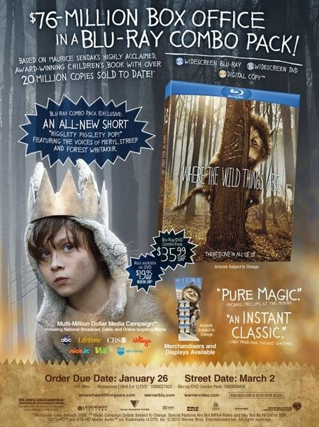 <strong><em>Where the Wild Things Are</em></strong> DVD