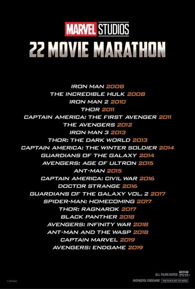 105ef2d61 Marvel Announces 22-Movie Marathon in Celebration of Avengers: Endgame