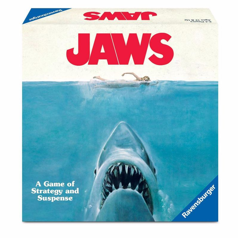 <strong><em>Jaws</em></strong> Board Game Box front