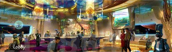 Star Wars Luxury Resort Concept Art 2