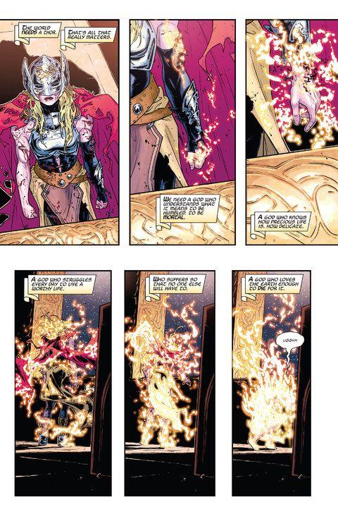 Female Thor Comic Panel 1