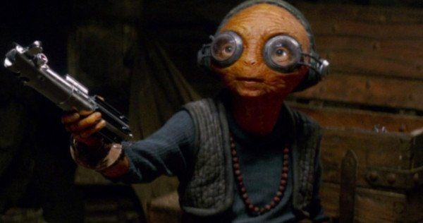 Maz Kanata Luke Skywalker Lightsaber