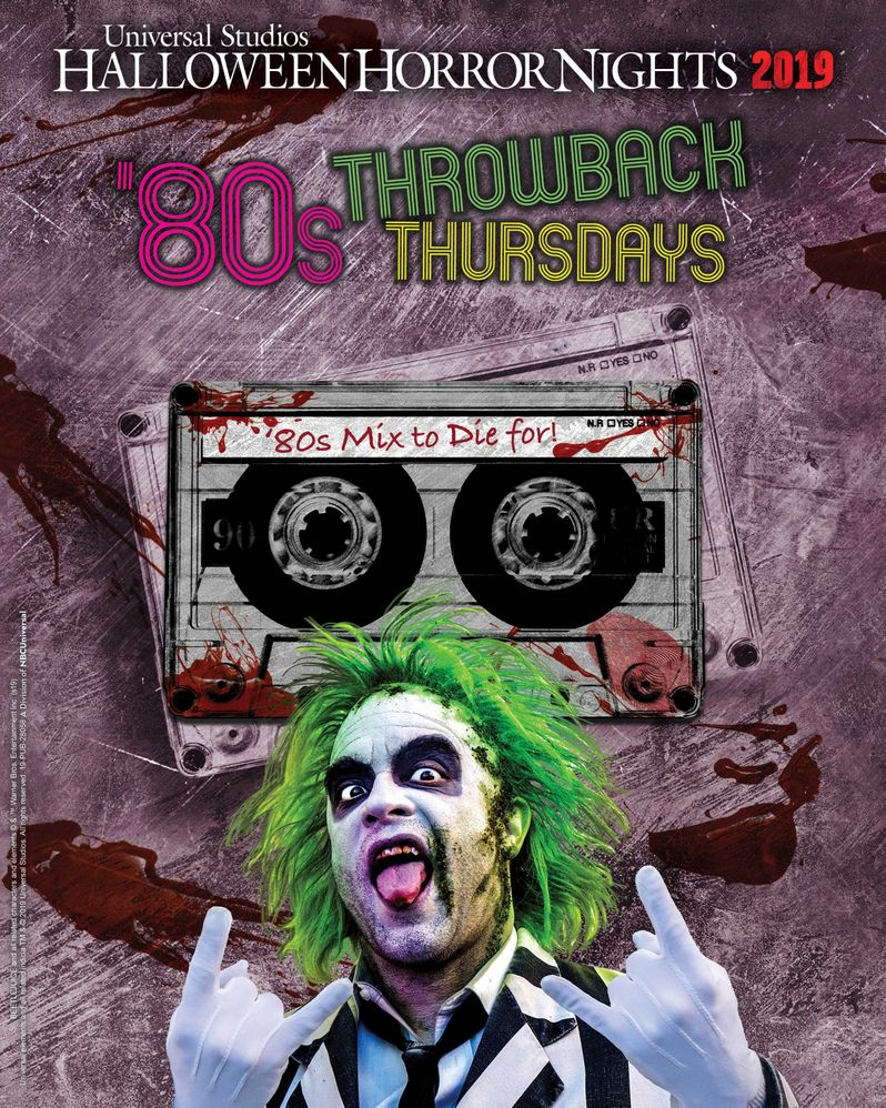 Halloween Horror Nights 80s Throwback Thursdays