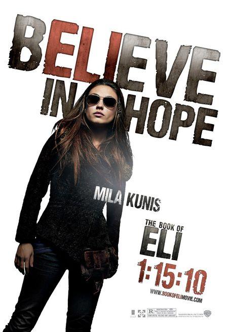 <strong><em>The Book of Eli</em></strong> Mila Kunis character poster