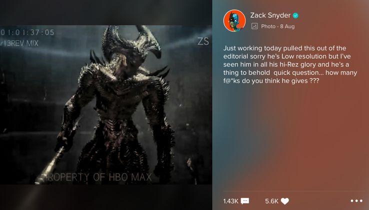 Riprogettazione di Steppenwolf nella Justice League di Zack Snyder + instagram di zack snyder