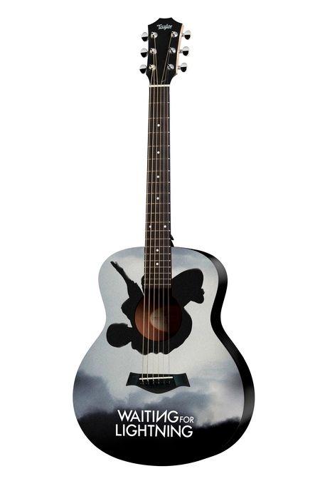<strong><em>Waiting for Lightning</em></strong> custom Taylor Mini GS guitar