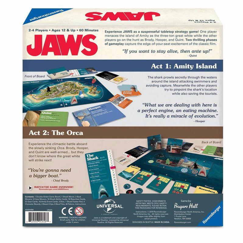 <strong><em>Jaws</em></strong> Board Game Box back