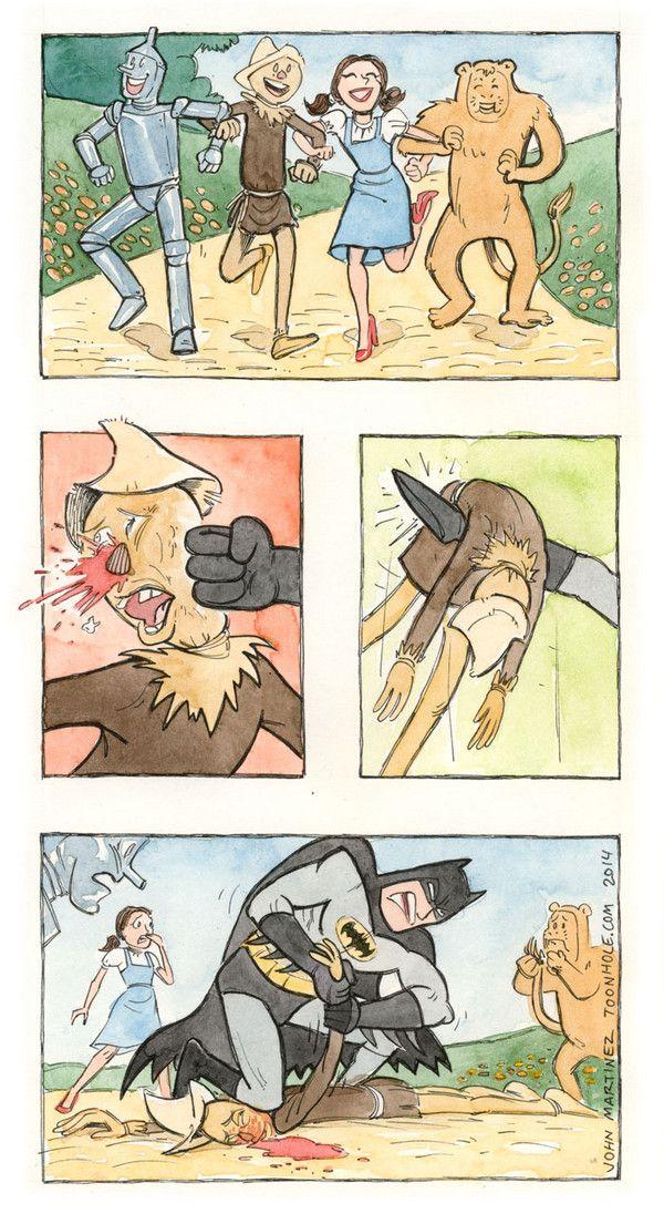 Batman Attacks Scarecrow