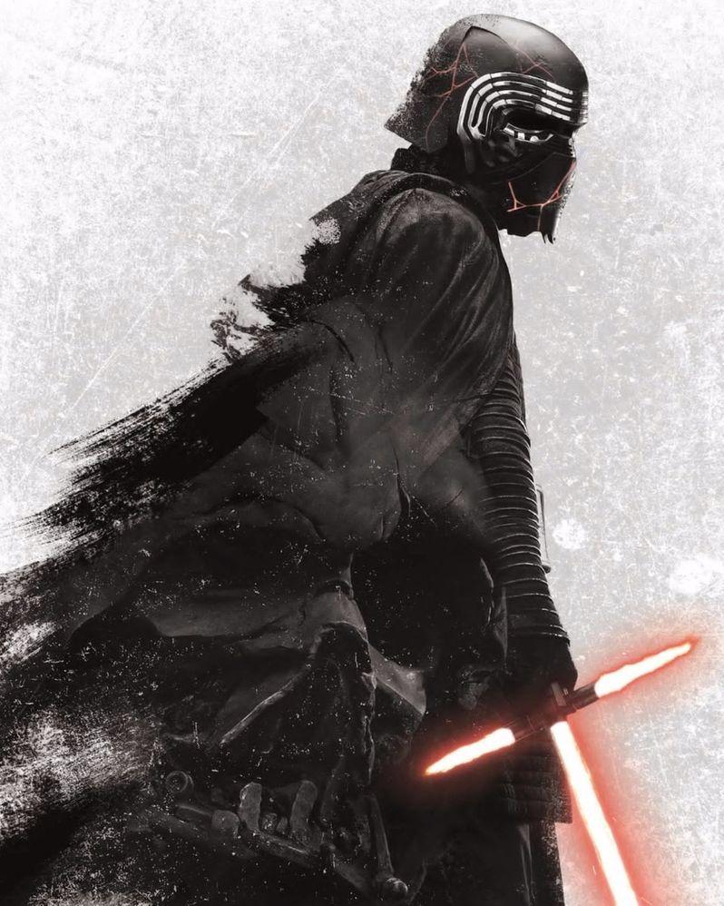 Rise of Skywalker Promo Poster Kylo Ren Darth Vader