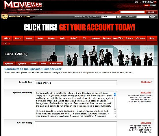 MovieWeb User Contributions
