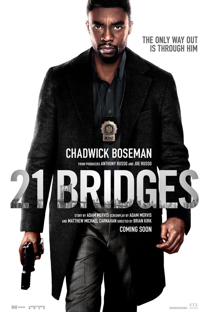 <strong><em>21 Bridges</em></strong> payoff poster