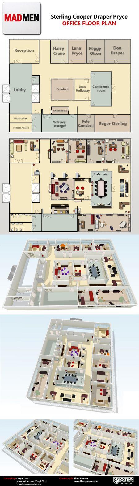 <strong><em>Mad Men</em></strong> Sterling Cooper Draper Pryce Office Floor Plan