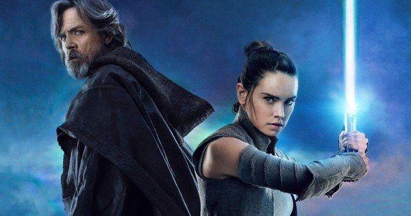 Rey and Luke Skywalker