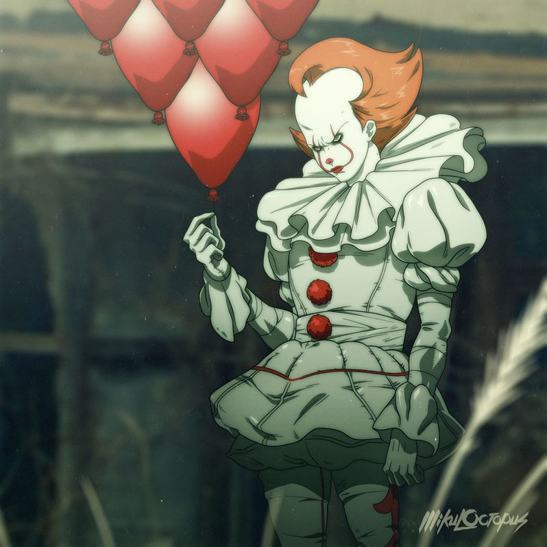 Pennywise <strong><em>IT</em></strong> anime 1