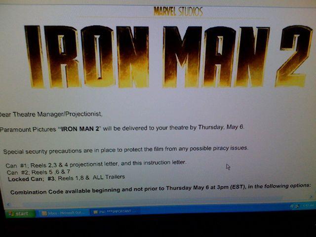 Iron Man 2 theater instructions