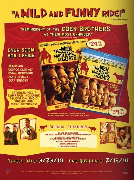 The Men Who Stare at Goats DVD/Blu-ray