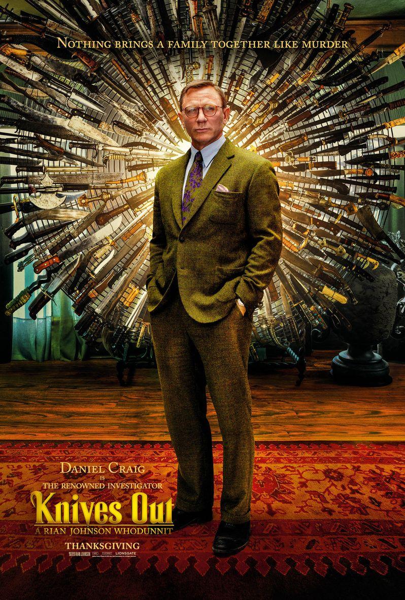 <strong><em>Knives Out</em></strong> Daniel Craig Poster