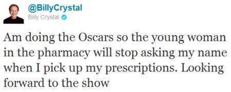 Billy Crystal Oscar Tweet