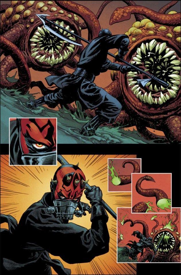 Darth Maul Comic Book Rathtars 1