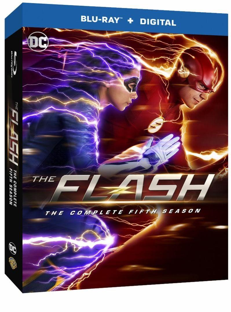 <strong><em>The Flash</em></strong> season 5 blu-ray, DVD cover art