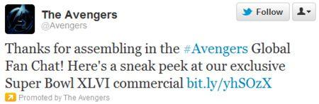 <strong><em>Marvel's The Avengers</em></strong> Tweet