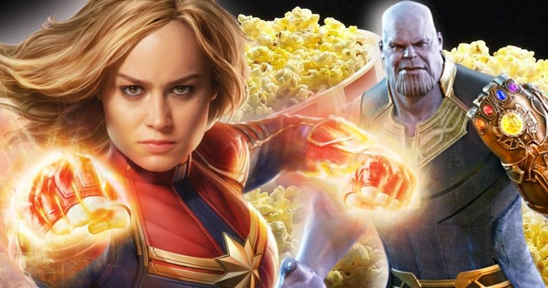 Captain Marvel & Thanos Are Back-To-Back on New Endgame Popcorn Tin