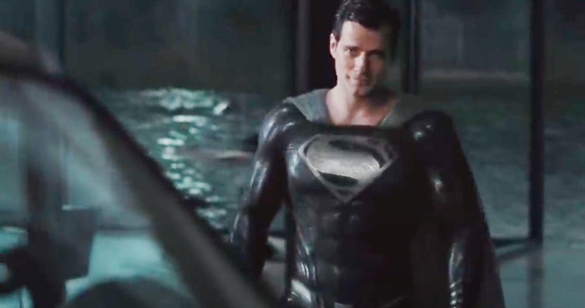 Justice League Snyder Cut Black Suit Superman Clip