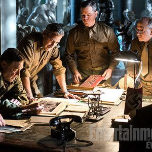 The Monuments Men First Look Photo with George Clooney and Matt Damon