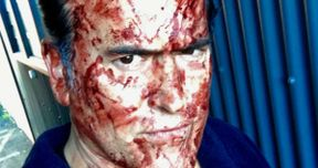 First Ash Vs Evil Dead Season 3 Set Photo Covers Bruce in Blood