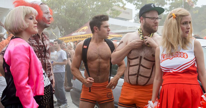 First Neighbors 2 Photo Has Zac Efron & Seth Rogen Going Topless