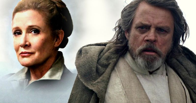 Star Wars 8 First Look at Carrie Fisher and Mark Hamill On Set