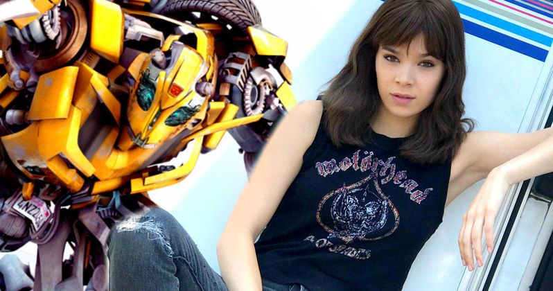 Hailee Steinfeld Is an 80s Metalhead in First Bumblebee Set Photo